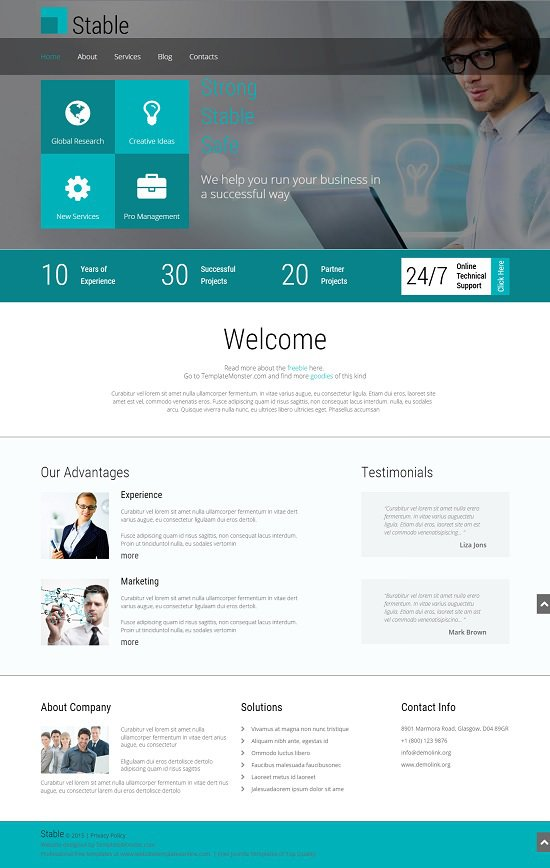 free website theme for consulting firm