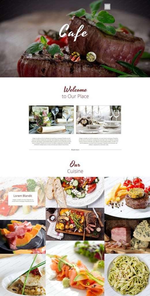 cafe & restaurant free website templates