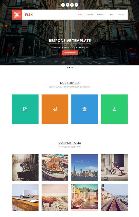 flex free template that is responsive template