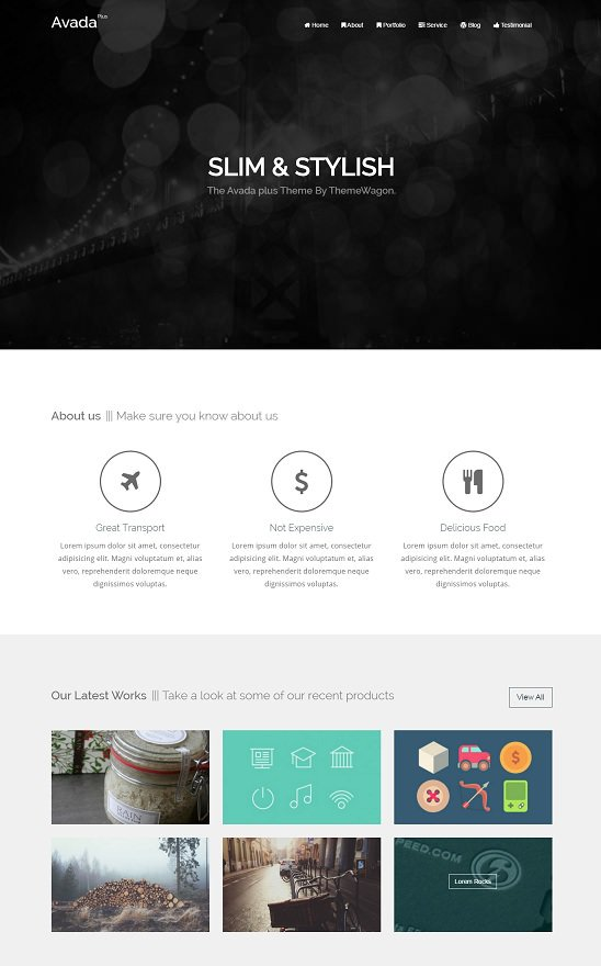 avada-plus a free responsive website agency template screenshot