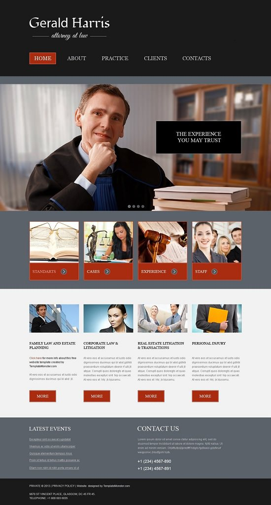 free website law that is template screenshot