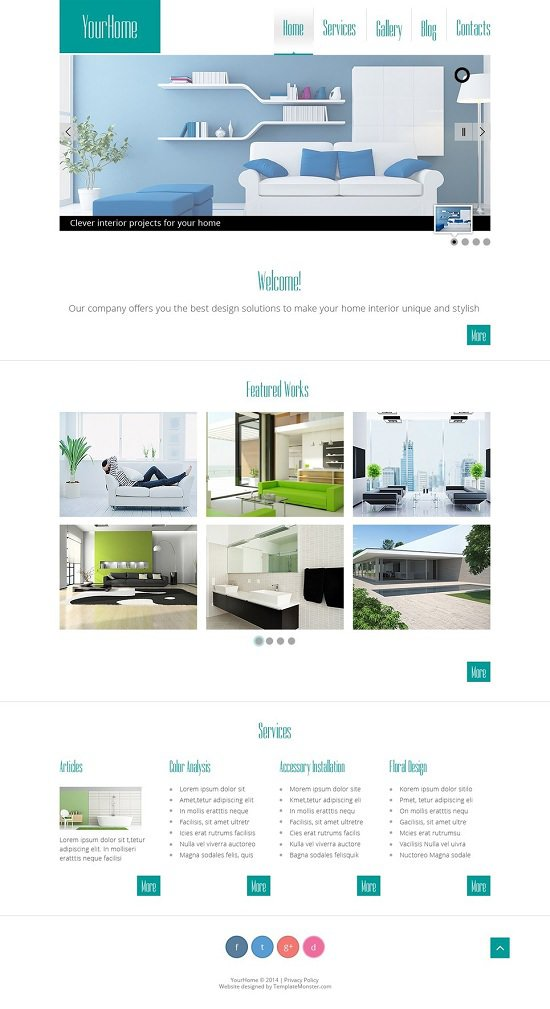 free theme that is website interior website