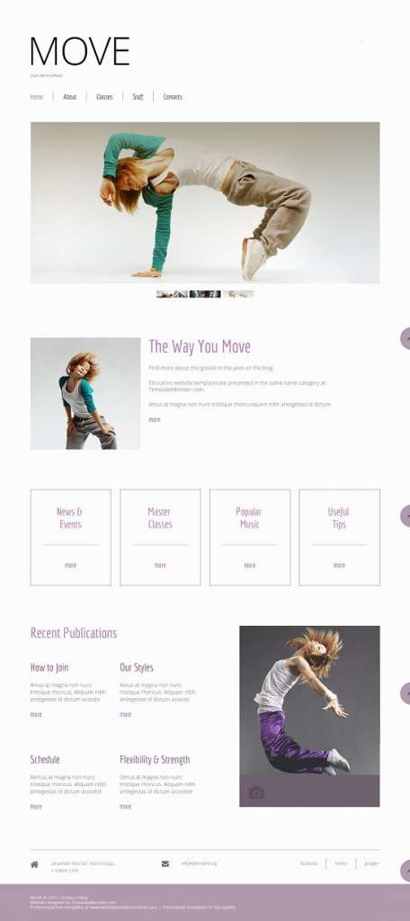 free website template for dance studio