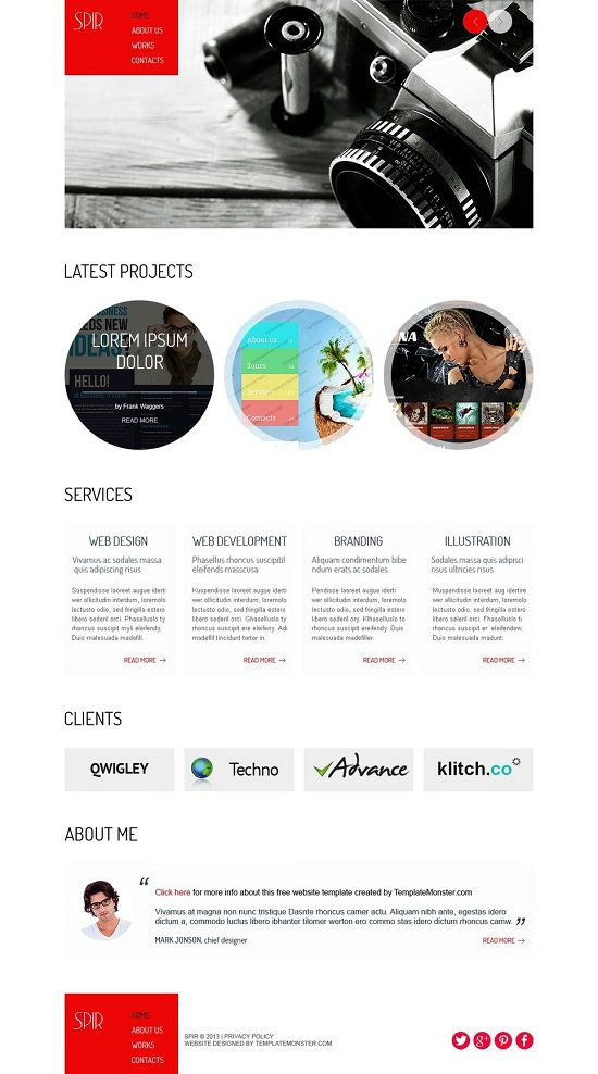 free theme that is website portfolio screenshot