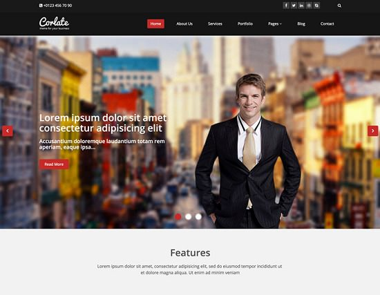 corlate free responsive business html template screenshot