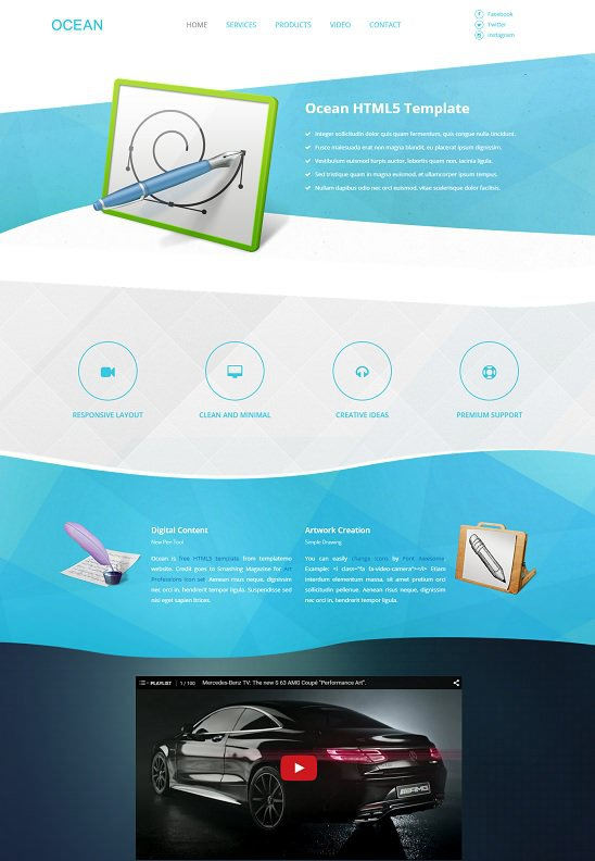 ocean website template