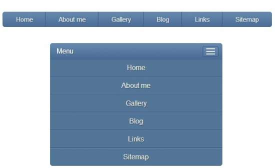 css responsive menu that is mobile width=