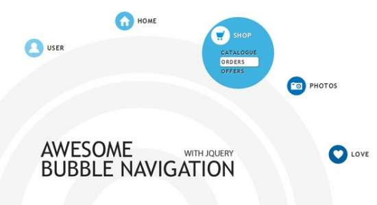 bubble navigation menu with jquery + tutorial