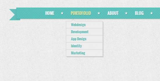 retro navigation menu with css3
