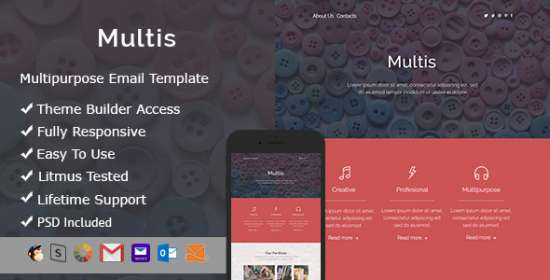 multis email that is responsive builder