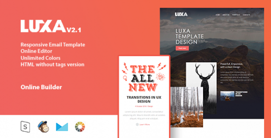 luxa email that is responsive online editor
