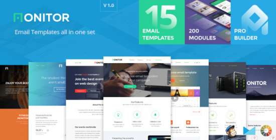 monitor email templates set builder 2.0