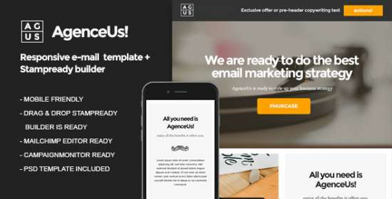 agenceus email that is responsive builder