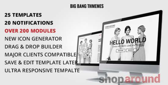 shoparound multipurpose e-mail builder access