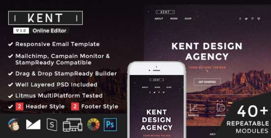 kent email that is responsive builder