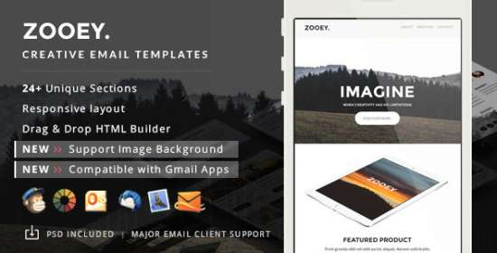zooey creative email template builder access