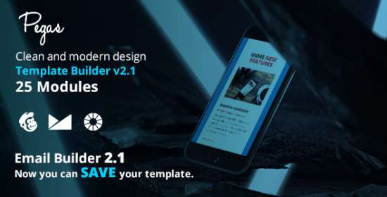 pegas e-mail emailbuilder that is template