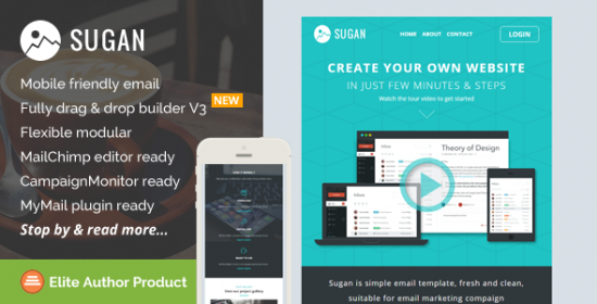 sugan responsive e-mail template builder access