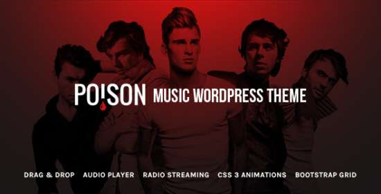 poison music wordpress theme