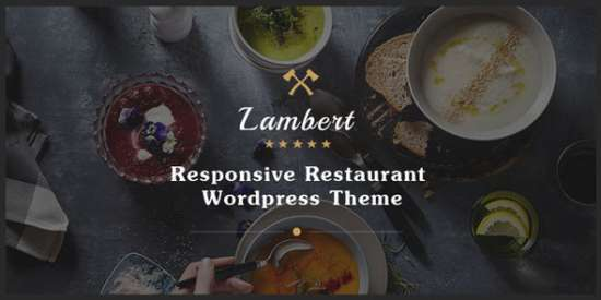 lambert restaurant cafe pub wordpress theme