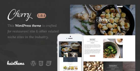 cherry cafe restaurant wordpress theme