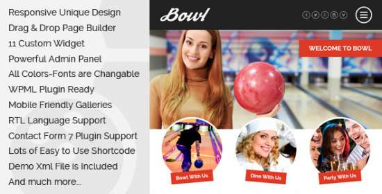 bowl bowling that is responsive wordpress theme