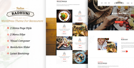 italian food that is radhuni wordpress theme