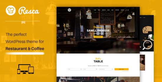 wordpress theme that is restaurant