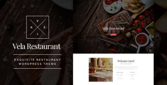 vela exquisite restaurant wordpress theme