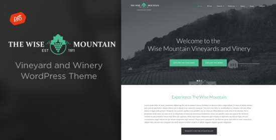 wise mountain winery and vineyard theme