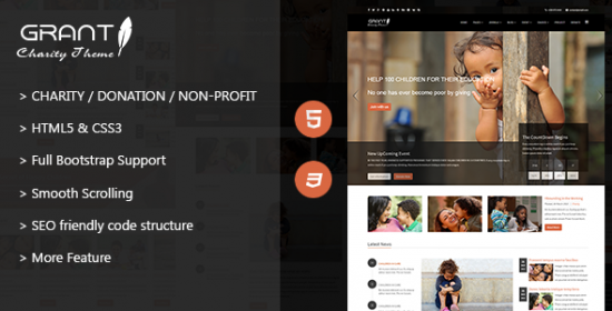 grant charity nonprofit ngo html5 template