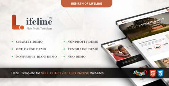 lifeline 2 multipurpose nonprofit html template