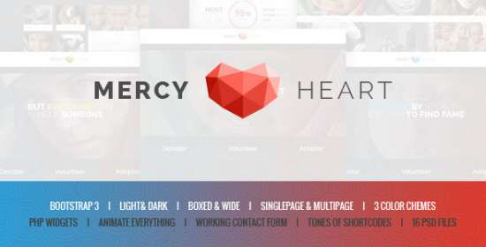 mercy heart charity that is modern template