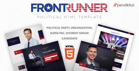 political html template frontrunner