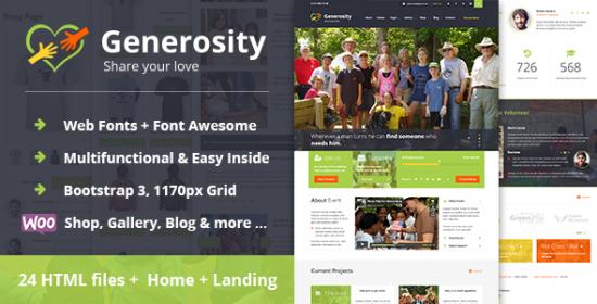 generosity multipurpose charitynonprofit html template