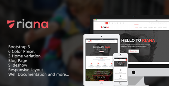 riana charity that is responsive