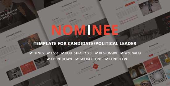 nominee template for candidatepolitical leader