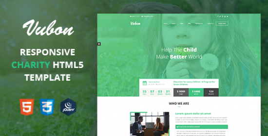 vubon charity that is multipage template