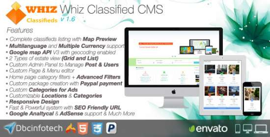 whizclassified classifieds cms