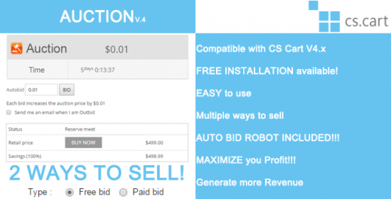 auction bidding with automobile bid robot for cs cart