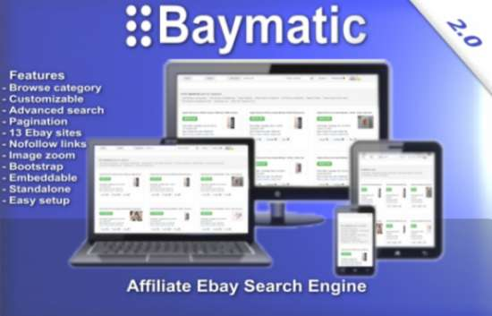 baymatic affiliate ebay search engine v20