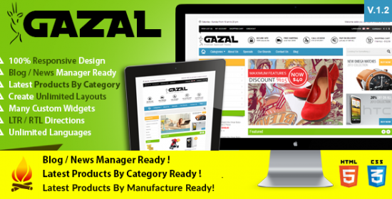 gazal advanced responsive prestashop theme
