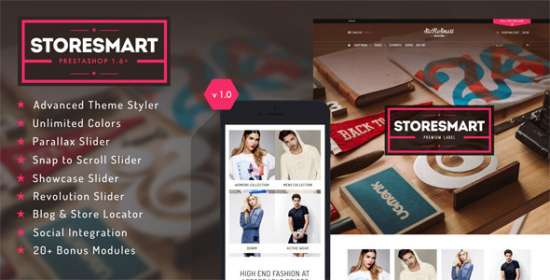 storesmart multi purpose prestashop theme