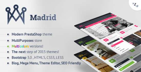 madrid contemporary prestashop theme with customizer
