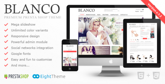 blanco fluid responsive prestashop theme