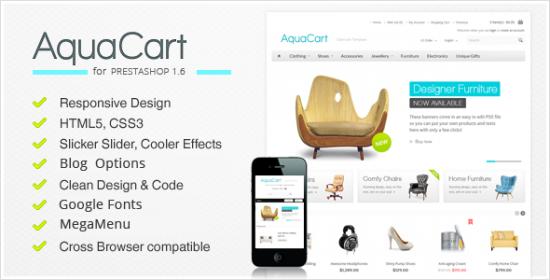 aquacart responsive prestashop theme