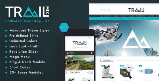 trailmix multi purpose responsive prestashop theme