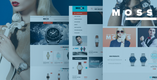 moos watches store responsive prestashop theme