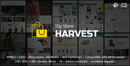 harvest multipurpose prestashop theme