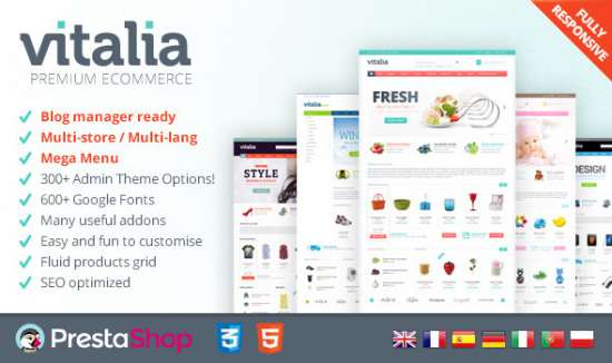 vitalia for prestashop fresh, responsive theme